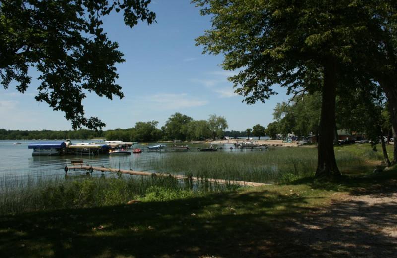 Lake view at Ten Mile Lake Resort.