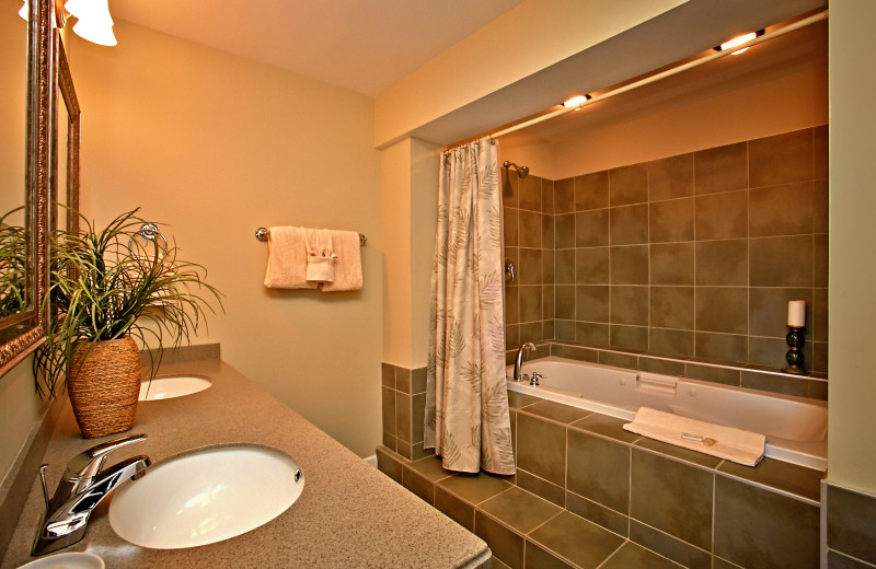 Jacuzzi tub at the Appleview River Resort.