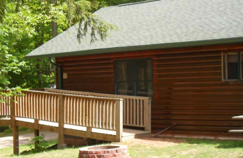 Cabins exterior at Virgin Timber Resort.