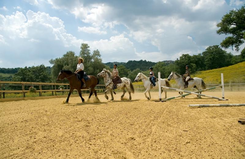 Horseback riding at Antico Casale di Scansano.