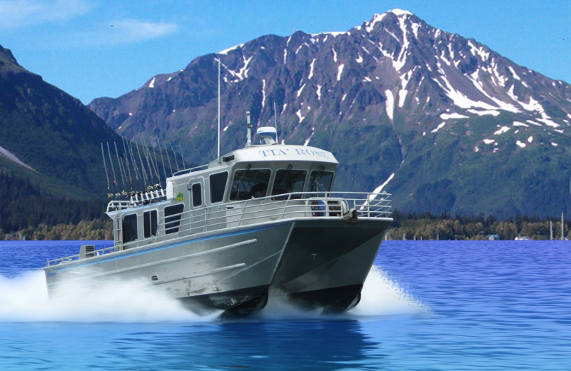 Boating at Alaskan Fishing Adventures.