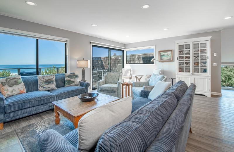 Rental living room at Pajaro Dunes Resort.