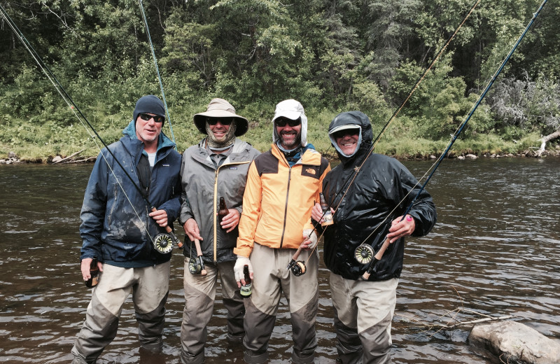 Fishing at Alaska's Gold Creek Lodge.