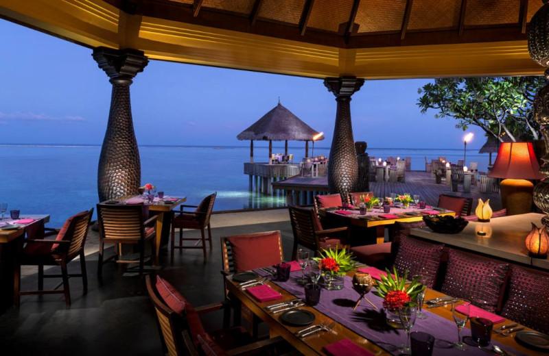 Dining at Four Seasons Resort - Maldives at Kuda Huraa.