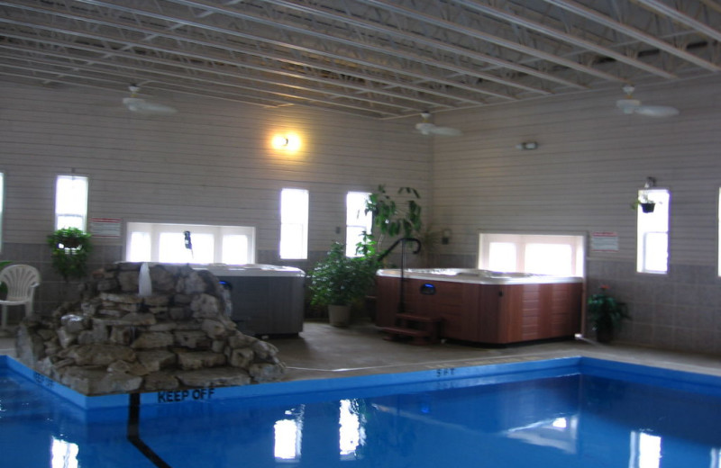 Indoor pool at Alhonna Resort.