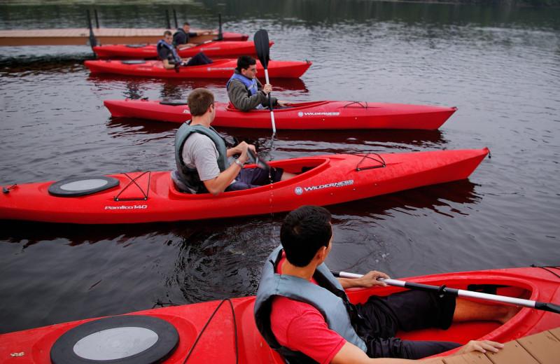 Kayaking at SookePoint Ocean Cottage Resort.