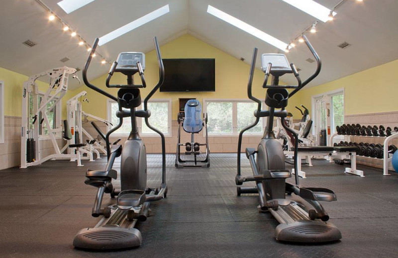Fitness room at Ste. Anne's Spa.
