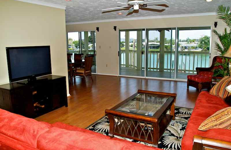 Vacation rental living room at Resort Rentals.