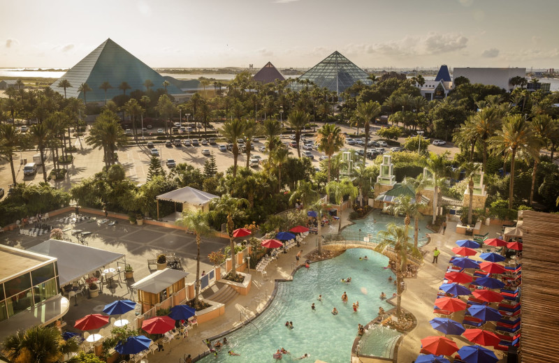 View from Moody Gardens Hotel Spa & Convention Center.