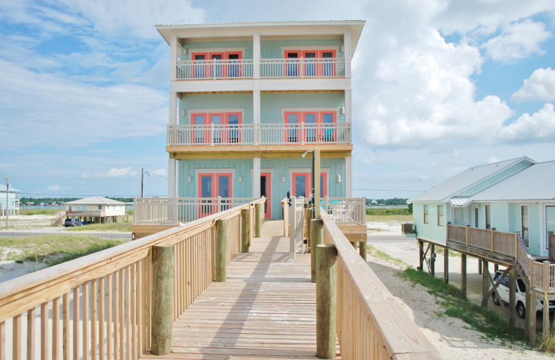 Rental exterior at Gulf Shores Vacation Rentals.