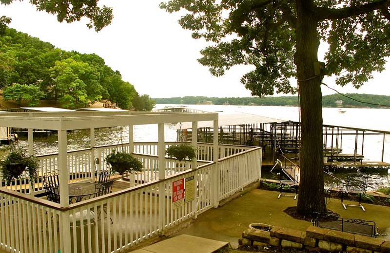 Patio view at Sunset Inn Resort.
