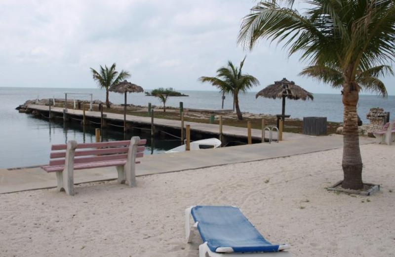 The beach at Crystal Bay Resort.
