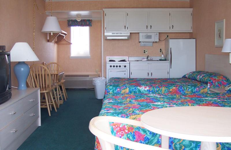 Guest room at Shangri La Motel.