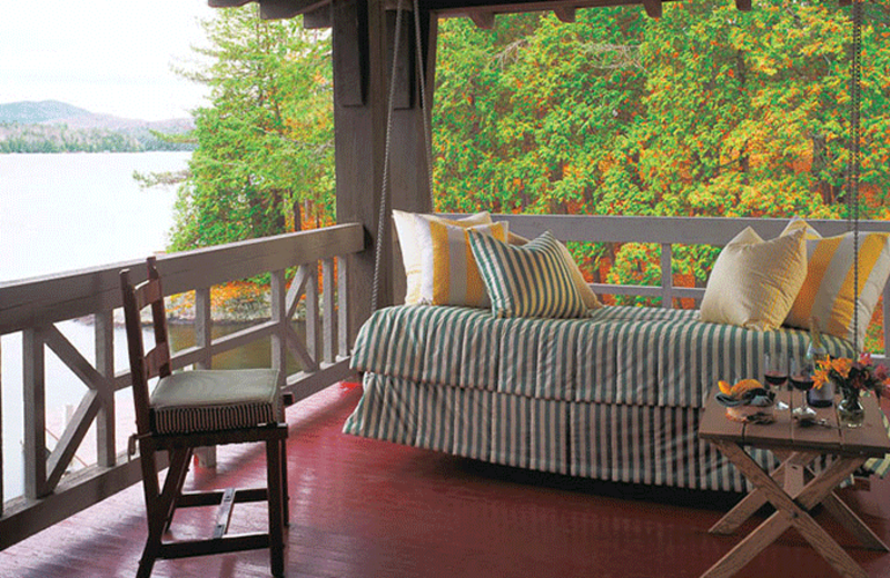 Guest porch at The Point.