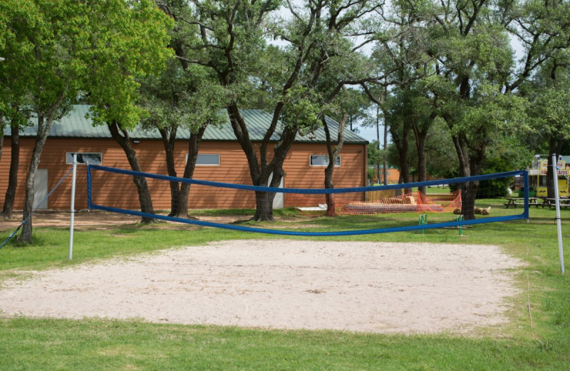 Volley ball court at Lone Star Jellystone.