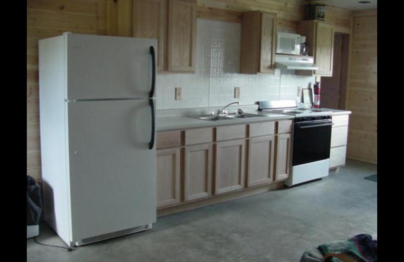 Kitchen at Dakota Hills Hideaway Lodge.