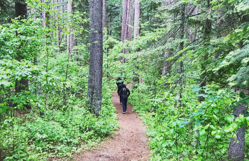 Hiking at Driftwood Resort.