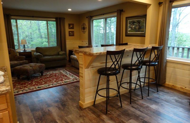 Lodge living room at Buckhorn Resort.