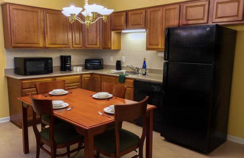 Guest kitchen at Massanutten Resort.