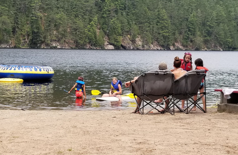 Beach at Mattawa River Resort.