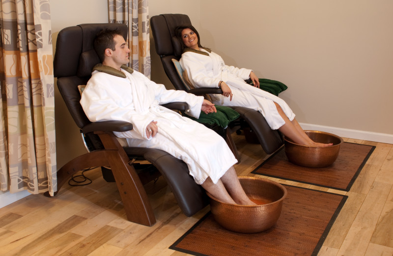 Couple's pedicure at Essex Resort & Spa.