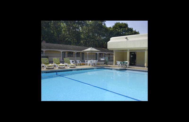 Outdoor pool at Travelodge Wall Spring Lake Belmar.