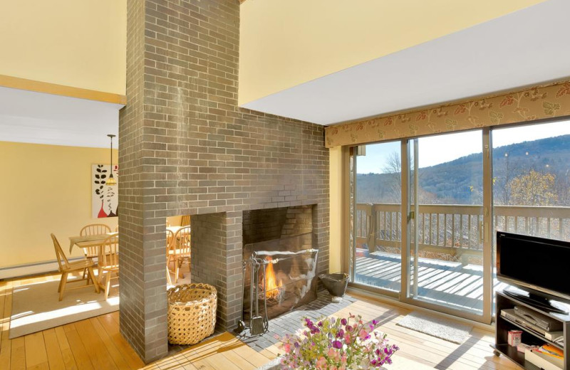 Rental living room at Killington Rental Associates.