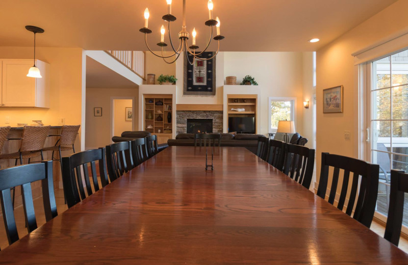 Rental dining room at Finger Lakes Premiere Properties.