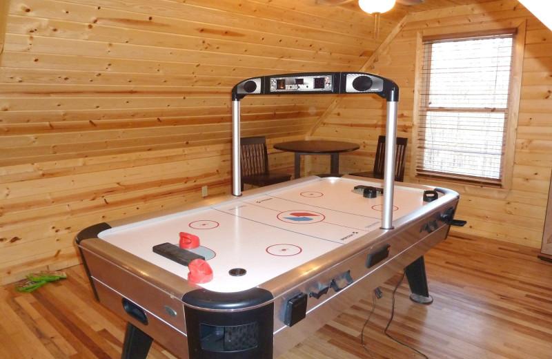 Cabin air hockey table at Allstar Lodging.