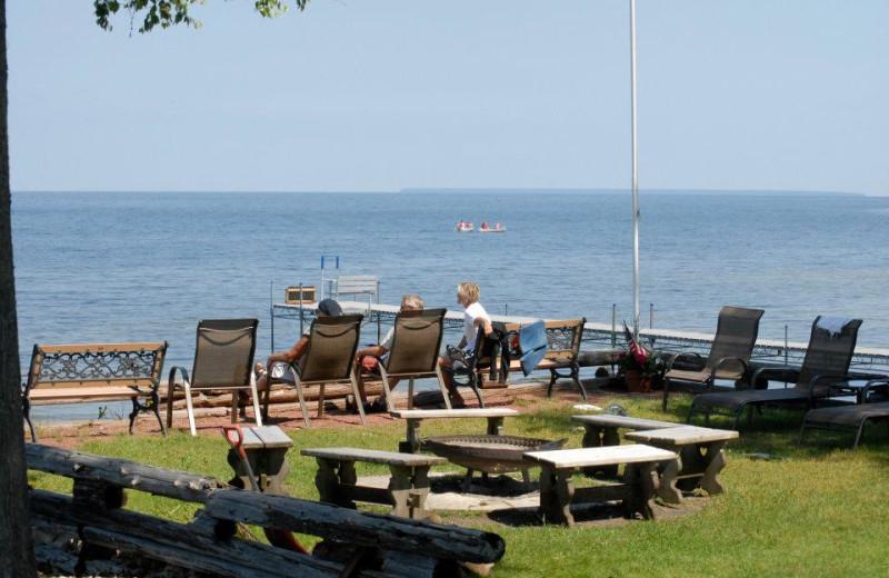 The lake at The Shallows Resort.