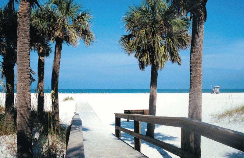 Beach near Gulf Winds Resort Condominiums.