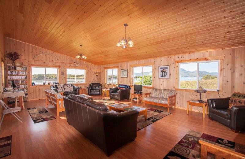 Interior at Katmai Wilderness Lodge.