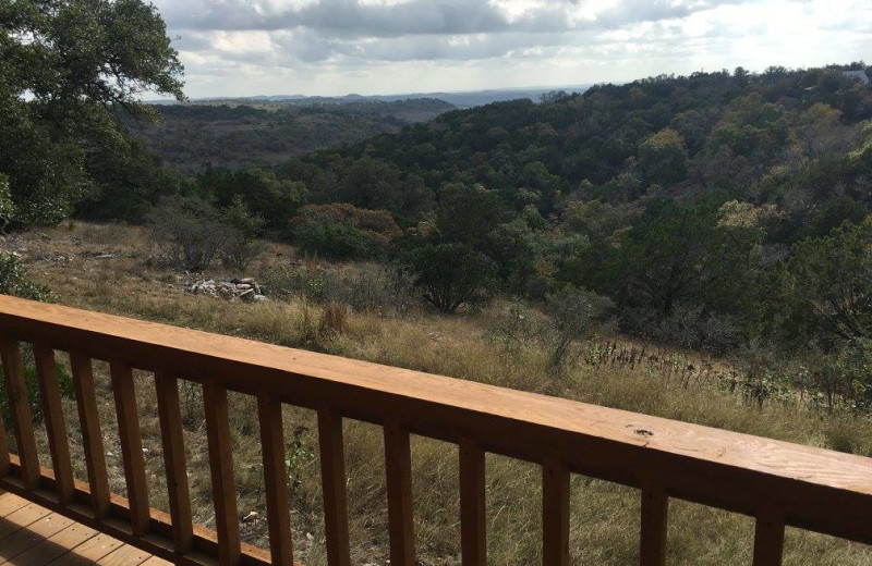 Cabin view at Walnut Canyon Cabins.