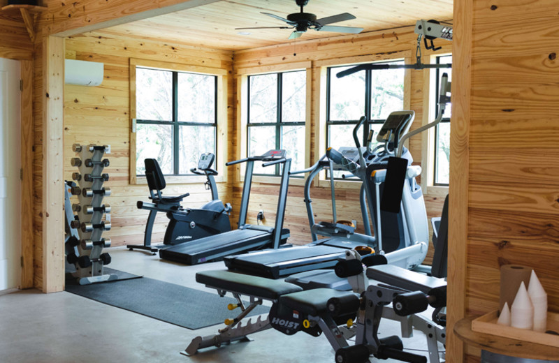 Fitness room at The Retreat at Balcones Springs.
