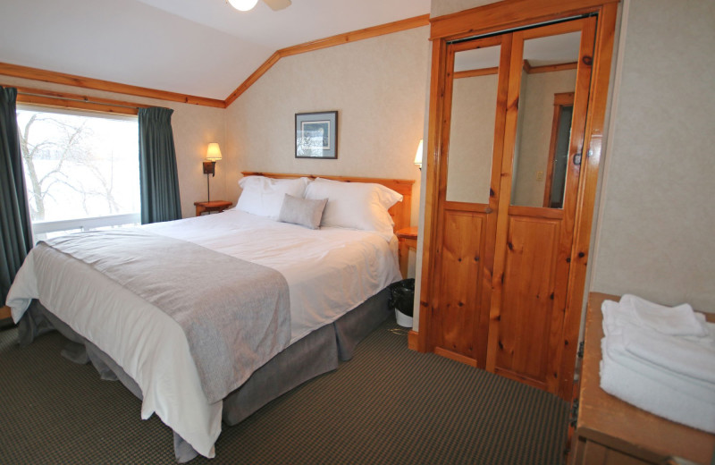 Guest room at Elmhirst's Resort.