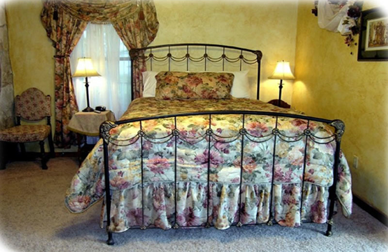 Guest bedroom at Brickner Guest House.