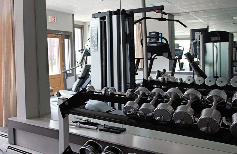 Fitness room at The Porches Inn.