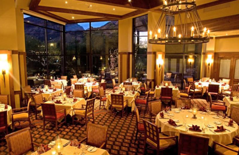 Dining room at The Lodge at Ventana Canyon.