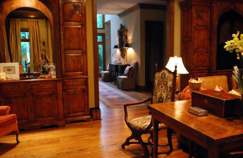Interior view of Brigadoon Lodge.