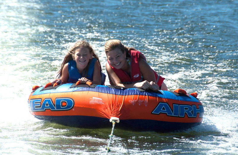 Water tubing at Cragun's Resort and Hotel on Gull Lake.