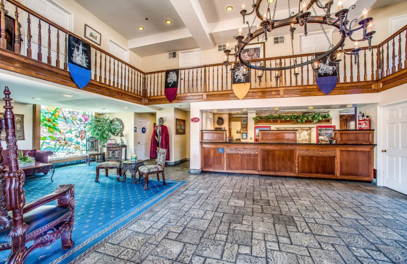 Lobby view at Castle Inn and Suites.