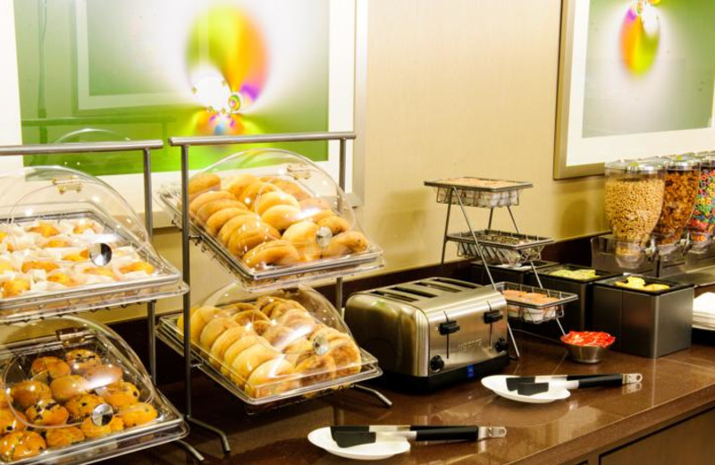 Breakfast at Drury Inn Suites Dallas Ft Worth.