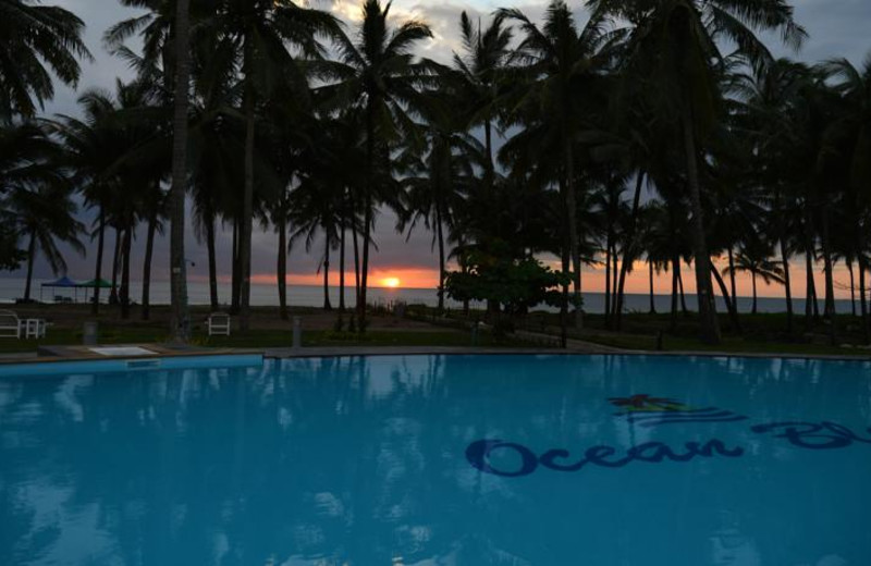 Outdoor pool at Blue Oceanic Beach Hotel.
