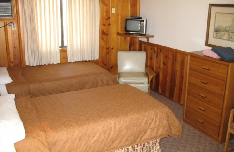 Guest room at Flying E Dude Ranch.