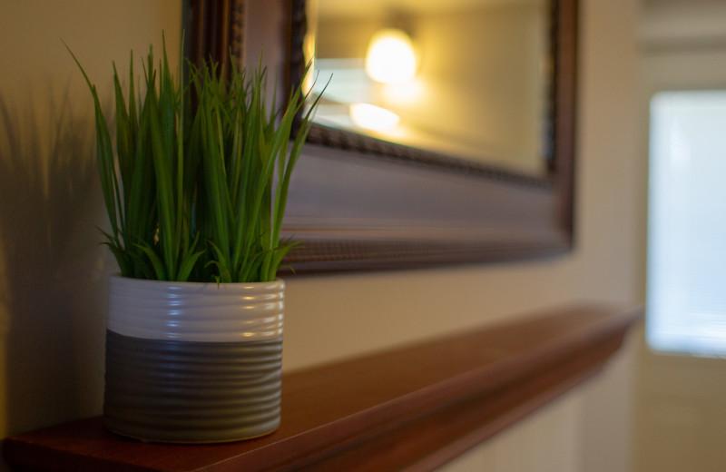 Guest room decor at Mark III Inn.