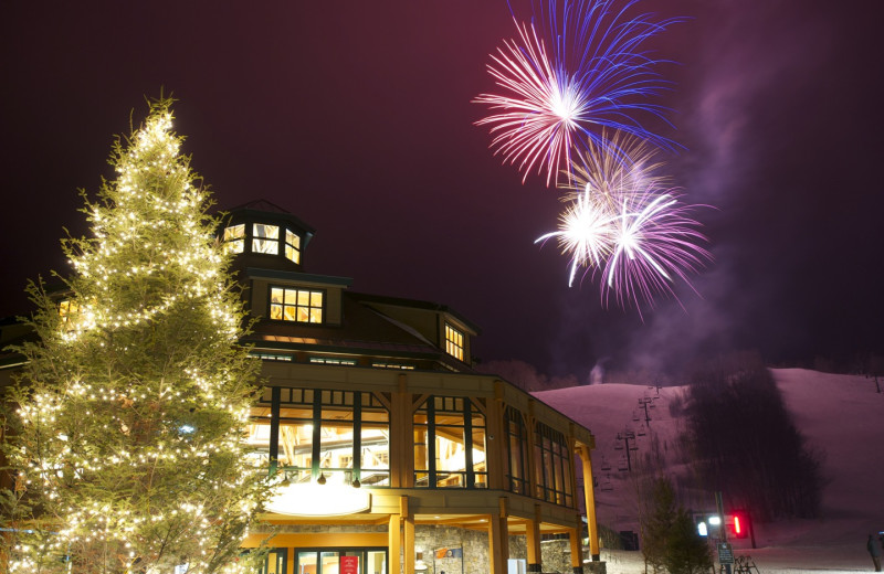 Fireworks at Stowe Mountain Lodge.