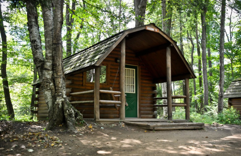 Cabin at Old Forge Camping Resort.