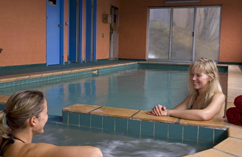 Indoor pool at Attunga Alpine Lodge.