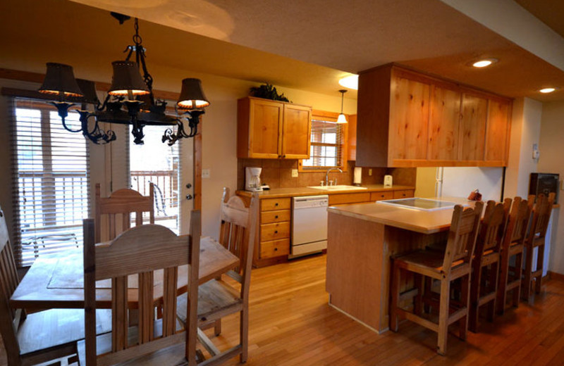 Rental kitchen at Stonebridge Resort.