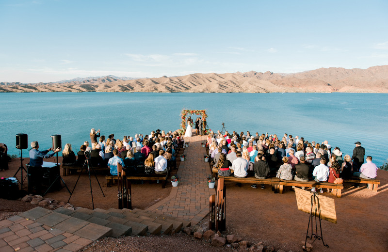 Wedding ceremony at Havasu Springs Resort.